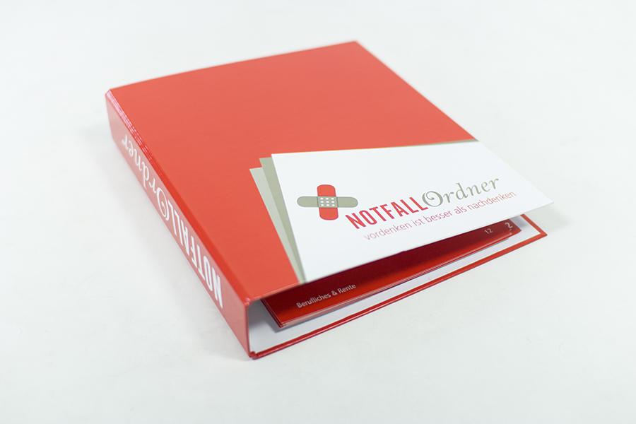 Die Notfallmappe bzw. der Notfallordner hilft Ihnen im Notfall.