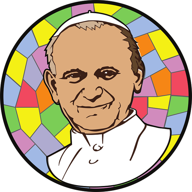 Grafik von Papst Johannes Paul II.