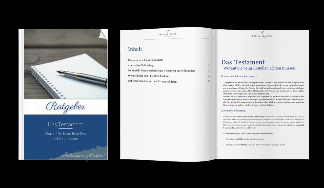Praxis-Ratgeber: Das Testament